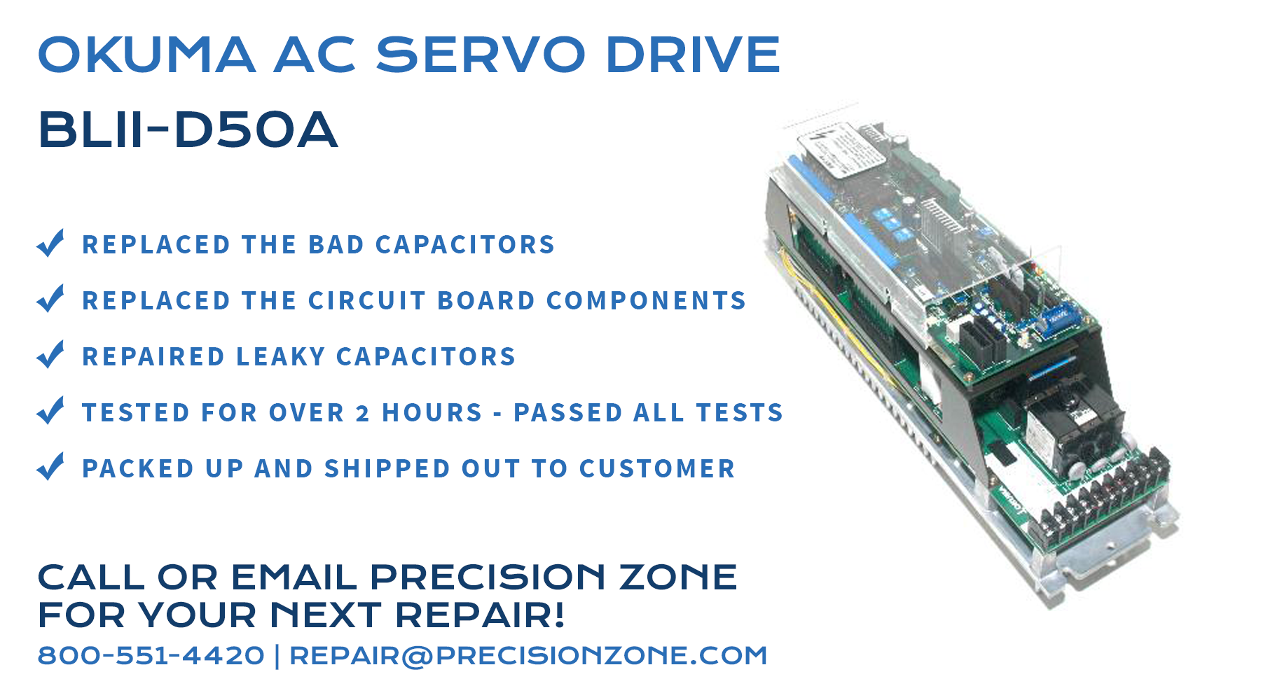 Precision Zone AC Servo Drive Repair Services